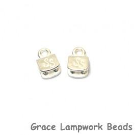 Silver Silk - Silver Plate End Caps - Pair, 5mm