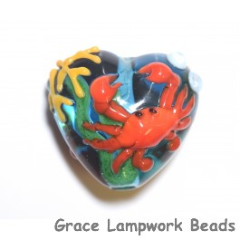 Red Crab Glass Beads Grace Lampwork Beads