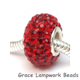 CRY07 - Large Hole Ruby Swarovski Rondelle Bead
