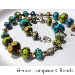LC-Necklace using Graduated Rondelle Strands