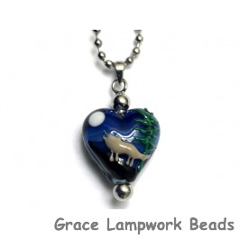 HN-11839005 - Howling at the Moon Heart Necklace