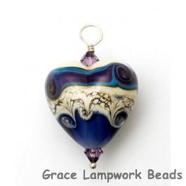 HP-11809105 - Ivory & Purple Free Style Heart Pendant