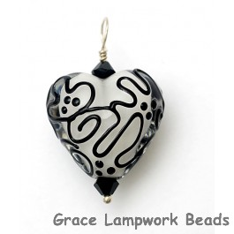 HP-11813105 - Black & White Heart Pendant
