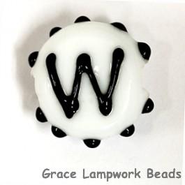 LTR-W: Letter W Single Bead