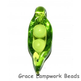 Pea Pod Two Babies Grace Lamwprk Beads