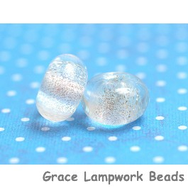PR23 Clearance - Two Clear with Silver Dichroic Rondelle Beads