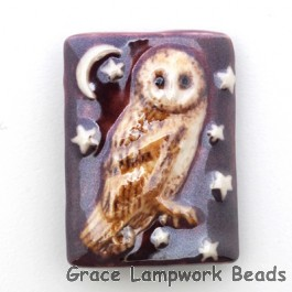 PW091824 - 18x24mm Porcelain Puffed Rectangle Owl #9