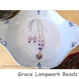 LC-Purple Lentil Necklace