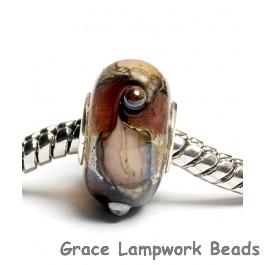 SC10003 - Large Hole Amethyst w/Silver Foil Rondelle Bead