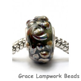 SC10017 - Large Hole Metal-colored Rose Rondelle Bead