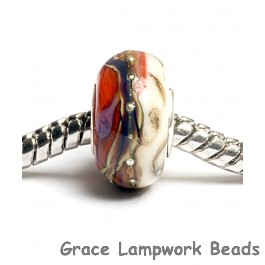 SC10037 - Large Hole Coral w/Ivory Free Style Rondelle Bead