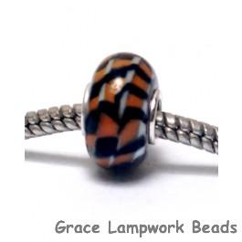 SC10114 - Large Hole Tiger Stripes Rondelle Bead