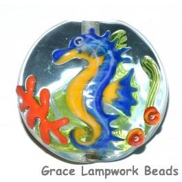Seahorse Lentil Focal Bead grace lampwork beads
