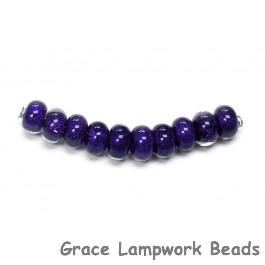 SP018 - Ten Indigo Dichroic Spacer Beads
