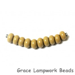 SP025 - Ten Opaque Taupe Rondelle Spacer Beads