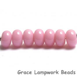 ST18 Clearance - Seven Pink Rondelle Beads * Great for Cancer Awareness Jewelry