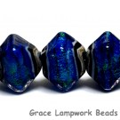 10413007 - Five Sapphire Sea Shimmer Crystal  Shaped Beads