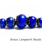 10413011 - Five Sapphire Sea Shimmer Graduated Rondelle Beads