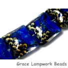 10413014 - Four Sapphire Sea Shimmer Pillow Beads