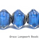 10413407 - Five Arctic Blue Shimmer Crystal  Shaped Beads