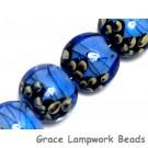 10413412 - Four Arctic Blue Shimmer Lentil Beads