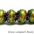 10507321 - Six Herbal Garden Shimmer Rondelle Beads