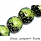 10507712- Four Spring Green Shimmer Lentil Beads