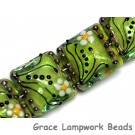 10508414 - Four Spring Green Florals Pillow Beads