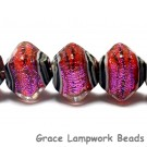 10706707 - Five Passion Pink Shimmer Crystal Shaped Beads