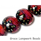 10706712 - Four Passion Pink Shimmer Lentil Beads