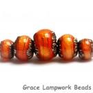 10706811 - Five Bonfire Shimmer Graduated Rondelle Beads