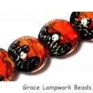 10706812 - Four Bonfire Shimmer Lentil Beads