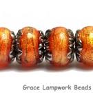 10706821 - Six Bonfire Shimmer Rondelle Beads