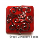 11807204 - Red w/Metal Color String Pillow Focal Bead