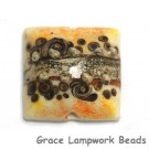 11808804 - Brown w/Ivory Pillow Focal Bead