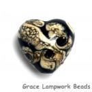 11810105 - Black w/Silver Ivory Heart