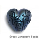 11813505 - Blue Pearl Surface w/Black String Heart