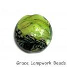 11837302 - Spring Green Shimmer Lentil Focal Bead