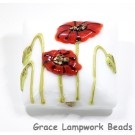 California Poppy Flower Pillow Focal Bead