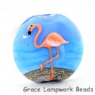 Flamingo Lentil Focal Bead