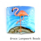 flamingo glass beads
