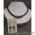 LC-English Garden Kumihimo Necklace and Earrings