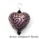 HP-11808105 - Light Purple Pearl Surface Heart Pendant