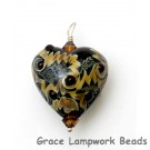 HP-11811605 - Dark Brown w/Beige Heart Pendant