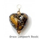 HP-11815205 - Black w/Yellow Silver Foil Heart Pendant