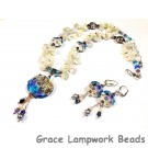 LC - Necklace and Earrings with 11815902 and 10407112 Seashell Beach Lentil Beads