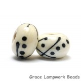 10303001 - Seven Ivory w/Black Rondelle Beads