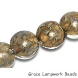 10303412 - Four Nature within Crystal Clear Lentil Beads