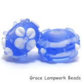 10402001 - Seven Lght Blue w/White Matte-Finished Rondelle Bead
