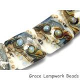10411014 - Four Sweet Blue Stardust Pillow Beads